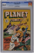 Golden Age (1938-1955):Science Fiction, Planet Comics #60 (Fiction House, 1949) CGC VF 8.0 Cream tooff-white pages. Even after nearly five years of creating all bu...