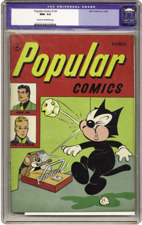 Popular Comics #129 (Dell, 1946) CGC NM+ 9.6 Cream to off-white pages. Here's an unbelievable copy of this issue of Dell...