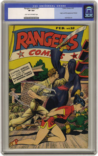 Rangers Comics #21 (Fiction House, 1945) CGC VF 8.0 Light tan to off-white pages. This is the first time we've offered t...