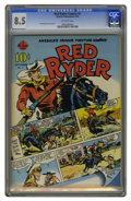 Golden Age (1938-1955):Western, Red Ryder Comics #1 (Hawley, 1940) CGC VF+ 8.5 Off-white pages.This one-shot has the first meeting of Red Ryder and Little ...