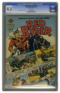 Red Ryder Comics #1 (Hawley, 1940) CGC VG+ 4.5 Off-white pages. The first meeting of Red Ryder and Little Beaver is seen...