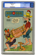 "Golden Age (1938-1955):Adventure, Red Seal Comics #16 Big Apple pedigree (Chesler, 1946) CGC NM 9.4White pages. This harmless-looking comic, with its ""countr..."