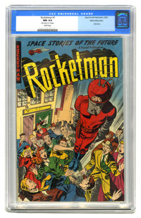 Rocketman #1 White Mountain pedigree (Farrell, 1952) CGC NM 9.4 White pages. This was the title's only issue. Farrell wa...