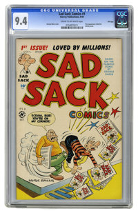 Sad Sack Comics #1 File Copy (Harvey, 1949) CGC NM 9.4 Cream to off-white pages. This amazing copy, which has been recen...
