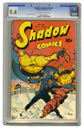 Golden Age (1938-1955):Crime, Shadow Comics V9#4 (Street & Smith, 1949) CGC NM 9.4 Off-white to white pages. Walter Gibson meets... Lewis Carroll? Believe...