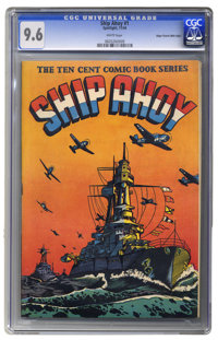 Ship Ahoy #1 Mile High pedigree (Spotlight, 1944) CGC NM+ 9.6 White pages. Awesome. The combination of this stirring L...