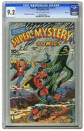 Golden Age (1938-1955):Miscellaneous, Super-Mystery Comics V5#4 Big Apple pedigree (Ace, 1946) CGC NM- 9.2 Off-white to white pages. Rudy Palais cover. Overstreet...