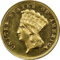 Three Dollar Gold Pieces, 1871 $3 MS63 NGC. CAC....