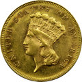 Three Dollar Gold Pieces, 1883 $3 MS63 NGC....