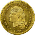 Proof Four Dollar Gold Pieces, 1879 $4 Flowing Hair, Judd-1635, Pollock-1832, R.6, PR65 NGC....