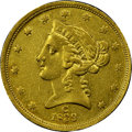 Liberty Half Eagles, 1839-C $5 -- Improperly Cleaned -- NGC Details. AU. Variety 1....