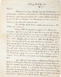 "Autographs:U.S. Presidents, John Adams Autograph Letter Signed ""John Adams"" to Vice President Elbridge Gerry...."