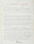 Autographs:Authors, Ernest Hemingway Typed Letter Signed...