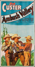 "Movie Posters:Western, Ambush Valley (Reliable, 1936). Three Sheet (41"" X 77""). Western.. ..."