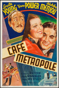 "Movie Posters:Romance, Cafe Metropole (20th Century Fox, 1937). One Sheet (27"" X 41"")Style A. Romance.. ..."