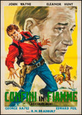 "Movie Posters:Western, Blue Steel (Monogram, R-1961). Italian 2 - Foglio (38.5"" X 54.75""). Western.. ..."