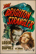 "Movie Posters:Crime, The Brighton Strangler (RKO, 1944). One Sheet (27"" X 41""). Crime.. ..."