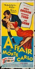 "Movie Posters:Drama, Affair in Monte Carlo (Allied Artists, 1953). Three Sheet (41"" X 79""). Drama.. ..."