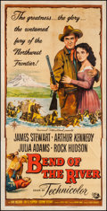 "Movie Posters:Western, Bend of the River (Universal International, 1952). Three Sheet (41"" X 80""). Western.. ..."