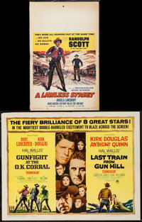 """Gunfight at the O.K. Corral/Last Train from Gun Hill Combo & Other Lot (Paramount, R-1963). Half Sheet (22"""" X 2..."""