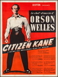 "Movie Posters:Drama, Citizen Kane (Dofra, R-1950s). French Grande (47"" X 63""). Drama....."