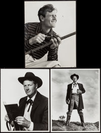 """Joel McCrea in Stars in My Crown & Other Lot (MGM, 1950). Photos (2) (10"""" X 13"""") & Portrait Photo (10..."""