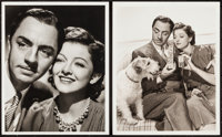 """William Powell and Myrna Loy in Another Thin Man by Laszlo Willinger (MGM, 1939). Portrait Photos (2) (8"""" X 10&quot..."""