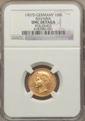 German States:Bavaria, German States: Bavaria. Otto gold 10 Mark 1907-D UNC Details(Polished) NGC,...