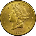 Liberty Double Eagles, 1887-S $20 -- Obverse Improperly Cleaned -- NGC Details. Unc....