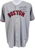 Baseball Collectibles:Uniforms, 2004 Manny Ramirez Game Worn Boston Red Sox Jersey....