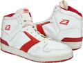 Basketball Collectibles:Others, 1980's Dominique Wilkins Game Worn, Signed Shoes....