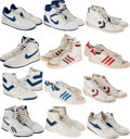 Basketball Collectibles:Others, 1980's NBA Stars Game Worn, Signed Shoes Lot of 12....