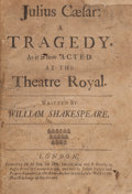 Books:Literature Pre-1900, William Shakespeare. Julius Caesar: A Tragedy. As It IsNow Acted at the Theatre Royal. London: H(enry) H(ills),...