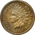 Proof Indian Cents, 1876 1C PR64 Brown NGC. CAC....
