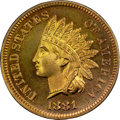Proof Indian Cents, 1881 1C PR66 Red and Brown NGC. CAC....