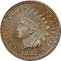 Proof Indian Cents, 1882 1C PR66 Brown NGC. CAC....