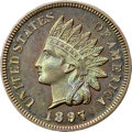 Proof Indian Cents, 1897 1C PR65 Brown NGC. CAC....