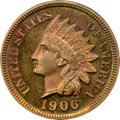 Proof Indian Cents, 1906 1C PR66+ Red and Brown NGC. CAC....