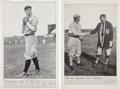 Baseball Collectibles:Others, 1910's Christy Mathewson & Walter Johnson Oversized Fatima Advertising Premiums Lot of 2....