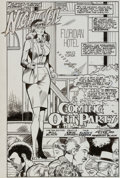 "Original Comic Art:Splash Pages, Erik Larsen, Bill Black, and Bill Anderson Nightveil #5""Coming Out Party"" Splash Page 2 Original Art (AC, 1986)...."