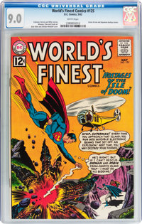 World's Finest Comics #125 (DC, 1962) CGC VF/NM 9.0 White pages
