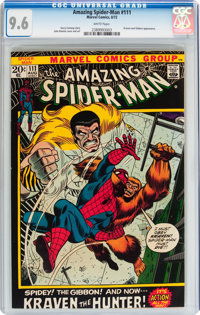 The Amazing Spider-Man #111 (Marvel, 1972) CGC NM+ 9.6 White pages