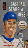 Pulp, Pulp-like, Digests, and Paperback Art, ROBERT ENGLE (American, 20th Century). Baseball Stars of 1956,preliminary book cover, 1956. Acrylic and gouache on boar...(Total: 2 Items)