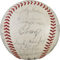 Autographs:Baseballs, 1966 Los Angeles Dodgers Team Signed Baseball....