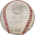 Autographs:Baseballs, 1962 Chicago Cubs Team Signed Baseball with Ken Hubbs....