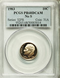 Proof Roosevelt Dimes: , 1983 10C No S PR68 Deep Cameo PCGS. PCGS Population (92/132). NGCCensus: (27/96). Numismedia Wsl. Price for problem free ...