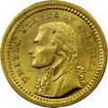 Commemorative Gold, 1903 G$1 Louisiana Purchase/Jefferson MS65 NGC. CAC....