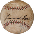 Autographs:Baseballs, 1930's Jimmie Foxx Single Signed Baseball....