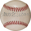 Autographs:Baseballs, Circa 1950 Connie Mack Single Signed Baseball....