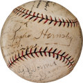 Autographs:Baseballs, 1927 New York Giants Team Signed Baseball....